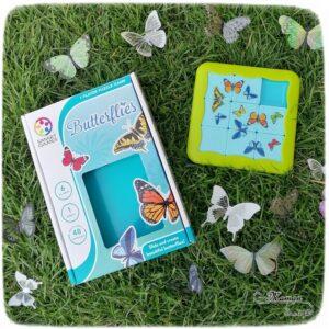 Jeu de société Butterflies de Smart Games - Jeu de logique enfants de type taquin sur le thème du printemps, des insectes et des papillons - Casse-tête à défis - Concentration, Intelligence spatiale, perception visuelle, planification, résolution de problème - mslf
