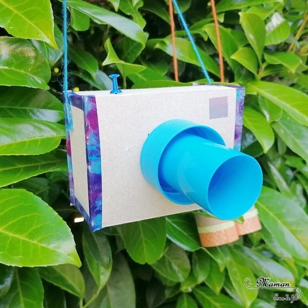Fabriquer un kit d'explorateur pour partir en safari-photo dans la savane au Kenya - Appareil-Photo et Jumelles en carton pour observer les animaux de la savane - Récup, carton, rouleaux de papier toilettes, bricolage DIY, bouchon et masking-tape - découpage, collage - Relief et 3D - Recyclage - Surcyclage - Afrique et Kenya - Animaux de la savane - Découverte d'un pays autour du monde - activité créative et manuelle enfants - Bricolage Eté - Tutoriel - Arts visuels maternelle et élémentaire - Cycles 1 et 2 - mslf