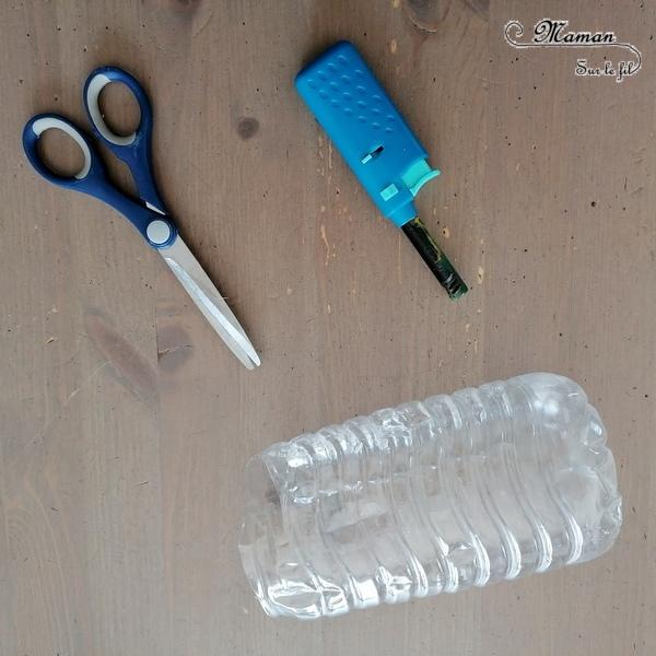 Fabriquer un soleil et un lion en bouteilles en plastique recyclées - Attrape Lumière, décorations et suspensions pour le jardin - Recyclage, Récup', Découpage, Peinture - été et météo - Bricolage Tête et crinière de lion - Recyclage - Surcyclage - Afrique et Kenya - Animaux de la savane - Découverte d'un pays autour du monde - activité créative et manuelle enfants - Bricolage Eté - Tutoriel - Arts visuels maternelle et élémentaire - Cycles 1 et 2 - mslf