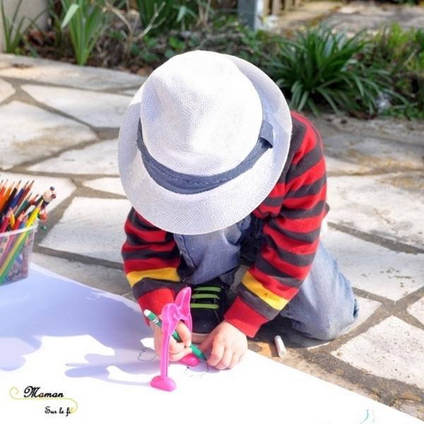 Activité créative enfants - Dessiner avec le soleil, la lumière et les ombres - dessin des animaux de la savane, de Mickey, de figurines divers, du corps humain - Sciences, expériences et observation - Dessin et créativité - découverte de l'Afrique et du Kenya - Activité extérieure printemps ou été - Découverte d'un pays - Géographie - mslf