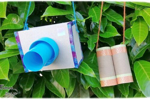 Fabriquer un kit d'explorateur pour partir en safari-photo dans la savane au Kenya - Appareil-Photo et Jumelles pour observer les animaux de la savane - Récup, carton, rouleaux de papier toilettes, bricolage DIY, bouchon et masking-tape - découpage, collage - Relief et 3D - Recyclage - Surcyclage - Afrique et Kenya - Animaux de la savane - Découverte d'un pays autour du monde - activité créative et manuelle enfants - Bricolage Eté - Tutoriel - Arts visuels maternelle et élémentaire - Cycles 1 et 2 - mslf