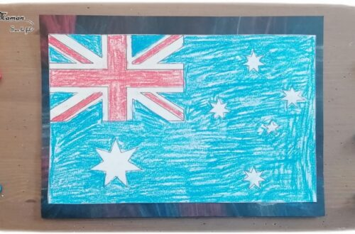 Activité créative et manuelle enfants - Reproduire le drapeau australien en coloriage magique aux pastels - réviser ou apprendre les tables de multiplication en s'amusant - éducatif et ludique - Créativité - Océanie et Australie - Découverte d'un pays - Espace et géographie - arts visuels et atelier Cycle 2 et 3 - Eté - mslf
