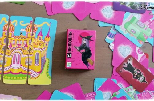 Jeu de société enfants et adultes - Diamoniak - Piratade Djeco - Jeu d'aventure et de stratégie sur les contes, sorcières, châteaux et fées - 5 ans et plus - Jeu de cartes - Parfait à emporter - Jeu de voyage - Test et avis - mslf