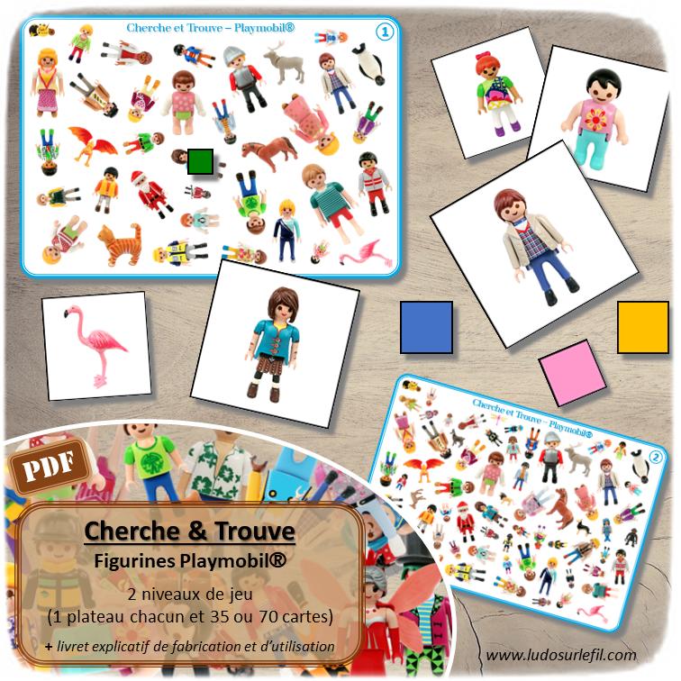 Jeu de cherche et trouve - 2 niveaux progressifs - 2 plateaux avec 35 ou 70 photos - Discrimination visuelle, rapidité, jeu de société - Atelier maternelle - Jeu à télécharger et à imprimer  ou jeu imprimé - Format PDF - lslf