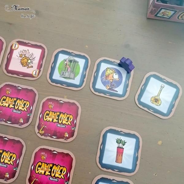 Jeu de société enfants et adultes - Game Over deluxe des éditions La Haute Roche - A l'effigie de la bande dessinée - Thème Jeux Vidéos, Princesse, Blorks et monstres - Jeu de mémoire rigolo - Variante familiale - 5 ans et plus - partie facile et rapide - Jeu de cartes - Test et avis - mslf