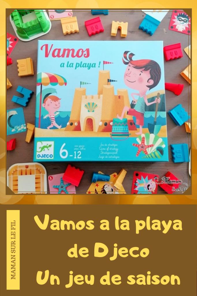 Jeu de société enfants et adultes - Vamos a la playa de Djeco - Jeu de stratégie et de cartes à partir de 6 ans - Elémentaire, cycle 2 et 3 - Thème Plage, été, mer et château de sable - Test et avis - mslf
