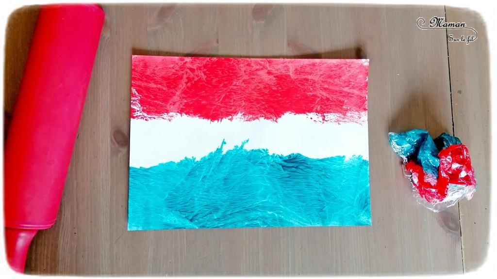 Activité créative et manuelle enfants - Reproduire le drapeau hollandais avec un rouleau à pâtisserie, du cellophane et de la peinture - technique rigolote - Créativité - Europe - Pays-Bas, Hollande, Néerlandais - Découverte d'un pays - Espace et géographie - arts visuels et atelier Cycle 1 ou 2 - Maternelle - mslf