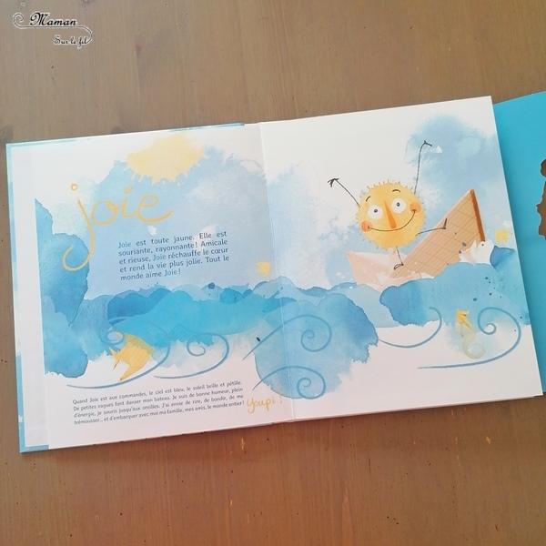 Livre enfants - Océan des émotions chez Ptite Margot - Double outil pour aborder, apprivoiser et parler des 6 émotions primaires (joie, tristesse, surprise, colère, peur, dégoût) - Documentaire avec six capitaines de bâteau - jeu de découpe, dessin, rabats - livre dépliant grand format - Jeu de plateau pour parler, mimer les émotions - ludique - littérature enfant et jeunesse - Test et avis - mslf